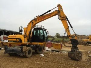 js 145 high lify wheeled excavator