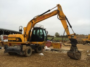 js 145 high lify wheeled excavator